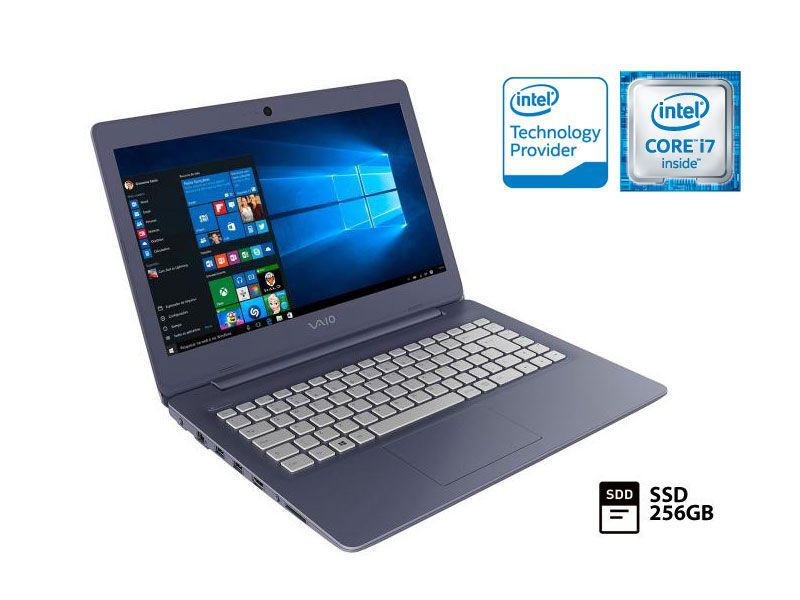 Notebook Vaio C14 I7-6500U SSD 256GB 8GB 14 WIN10 VJC141F11X-B1311L