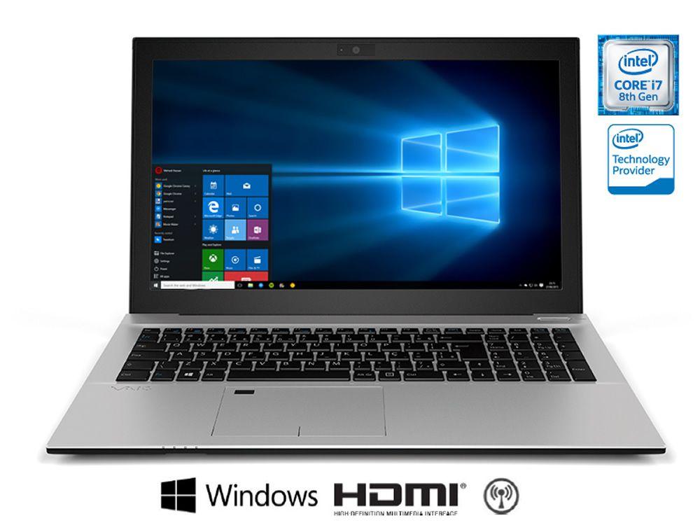 Notebook Vaio F15 Metal i7-8550U 8Gb 1Tb 15.6 Win 10 VJF157F11X-B0411S