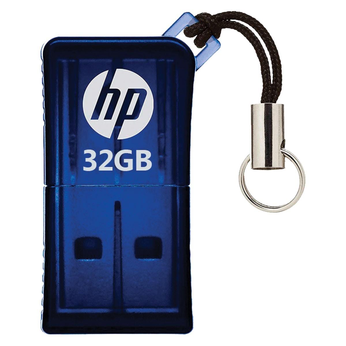 Pen Drive Mini HP USB 2.0 V165W 32GB HPFD165W2-32