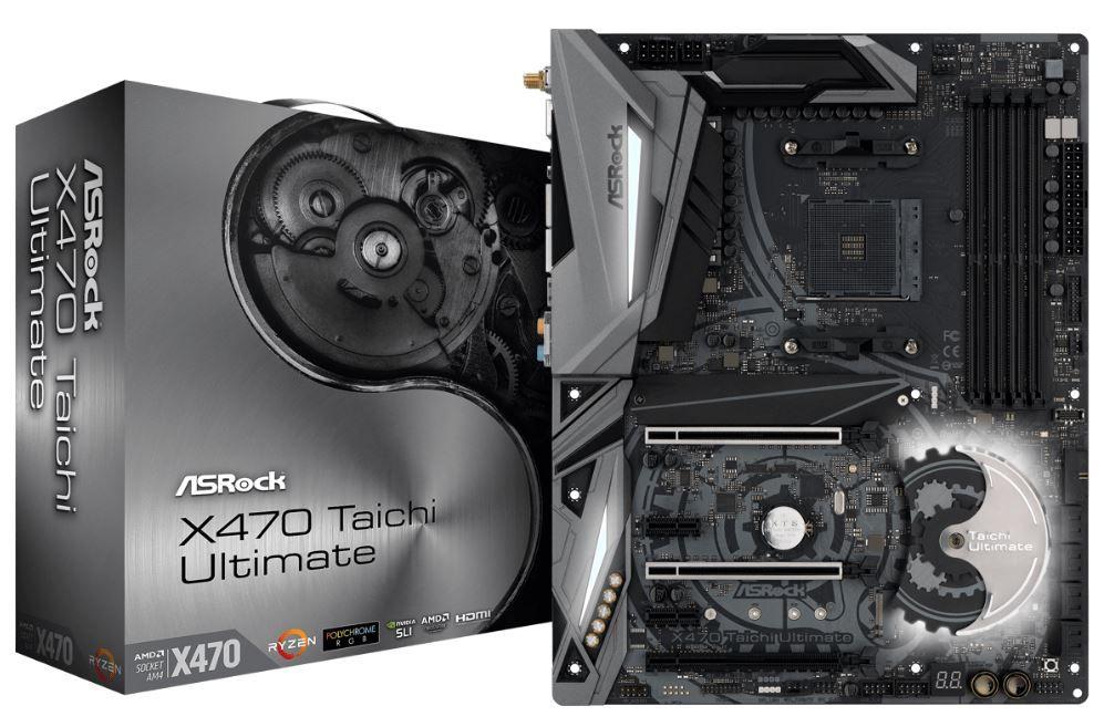 Placa Mae ASROCK X470 Taichi Ultimate Soquete AM4  / DDR4 / USB 3.1 GEN1 / TYPE-C / HDMI / M.2