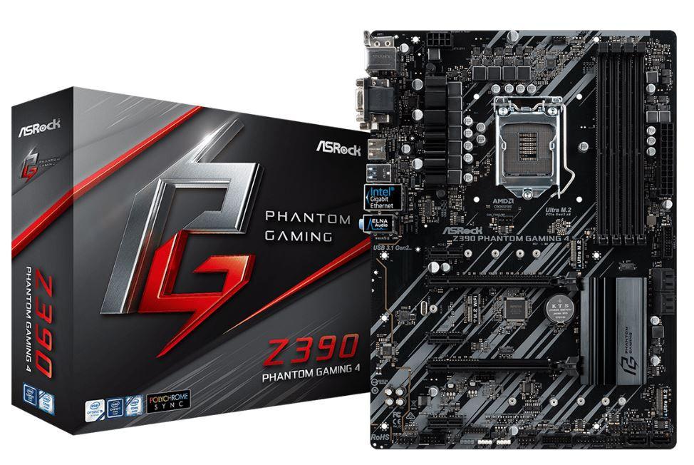 Placa Mae ASROCK Z390 Phantom Gaming 4 INTEL 1151 DDR4 HDMI / DVI-D/D-SUB / USB 3.1/TIPE-C / ULTRA M.2  8A  e 9A Geracao