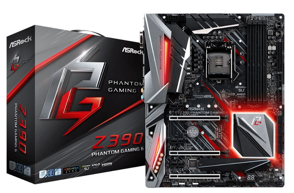 Placa Mae ASROCK Z390 Phantom Gaming 6 INTEL 1151 DDR4 HDMI/DP/D-SUB / USB 3.1/TIPE-C /ULTRA M.2  8A  e 9A Geracao