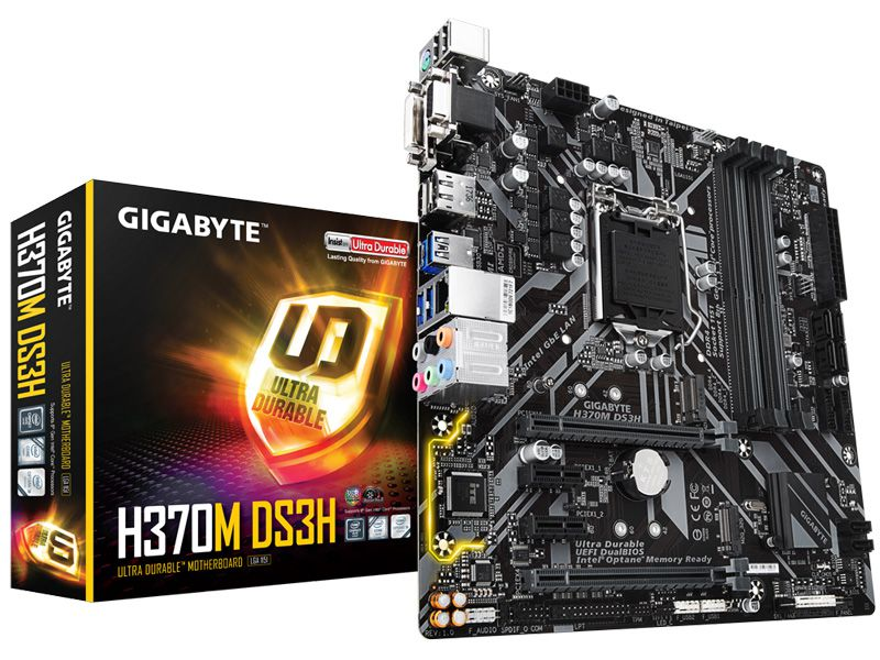 Placa Mae LGA 1151 INTEL Gigabyte H370M DS3H M-ATX DDR4 2666MHZ HDMI M.2 USB 3.1