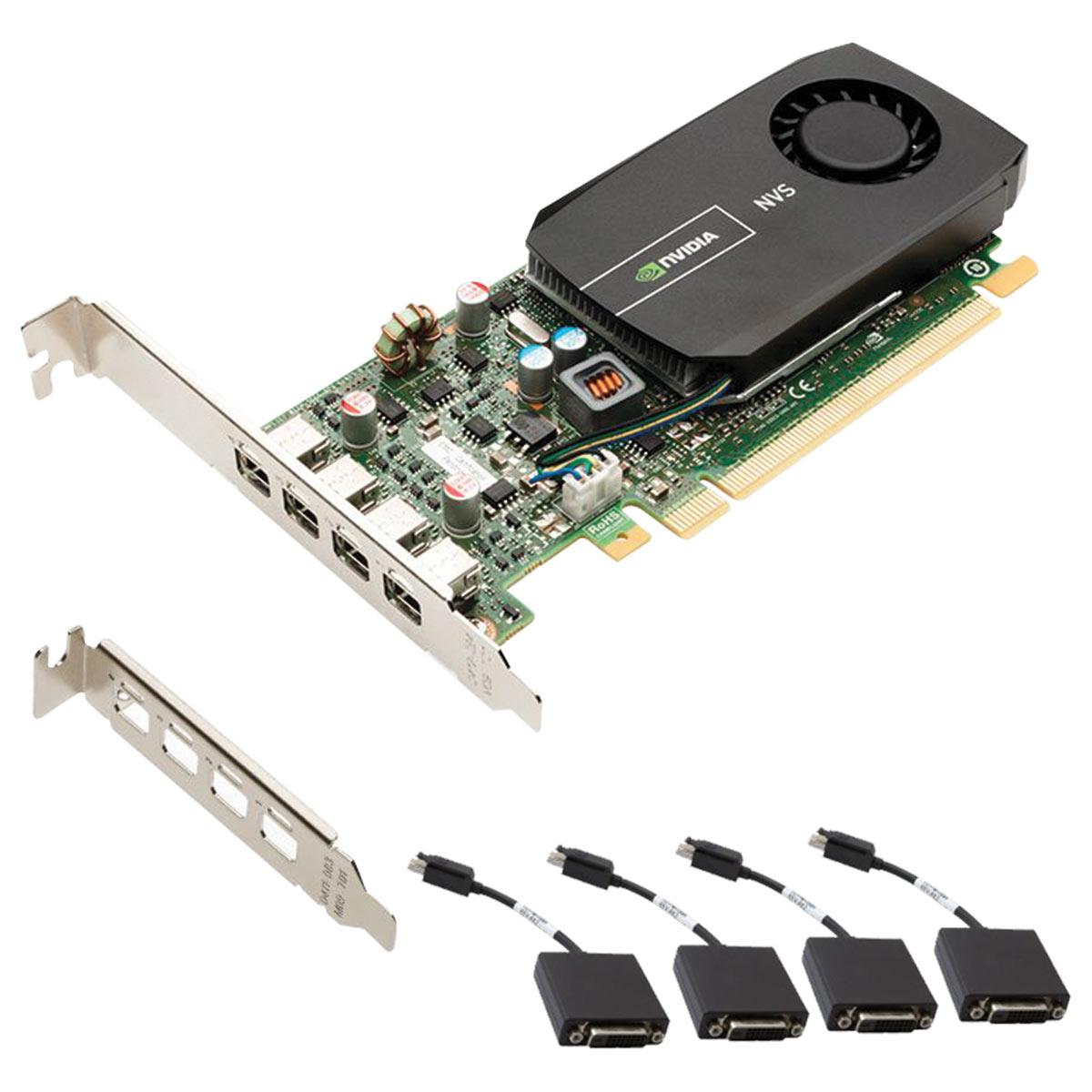 Placa Nvidia Quadro NVS 510 2GB DDR3 128 BITS 4 Mini Display PORT VCNVS510DVI-PB - Suporta ATE 4 MONITORES/TV