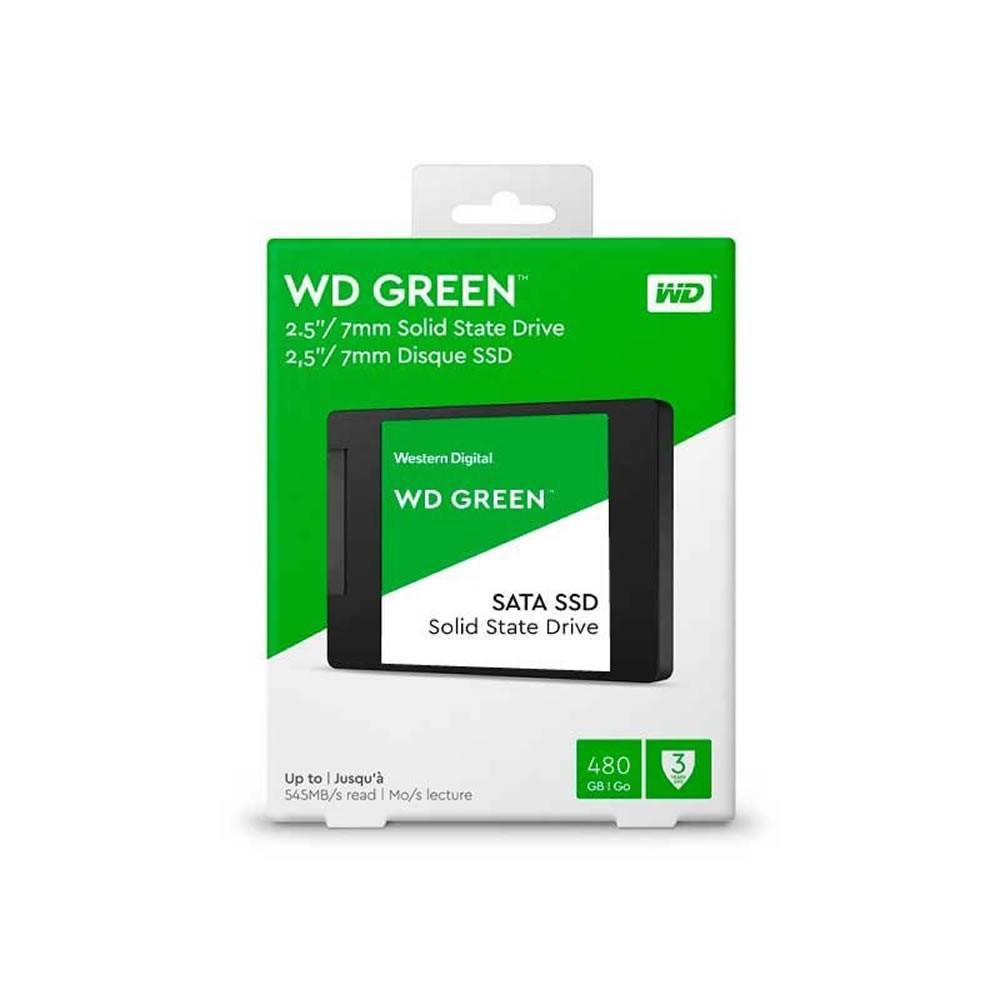 SSD 480gb Green WD Sata3 2.5 7mm Wds480g2g0a