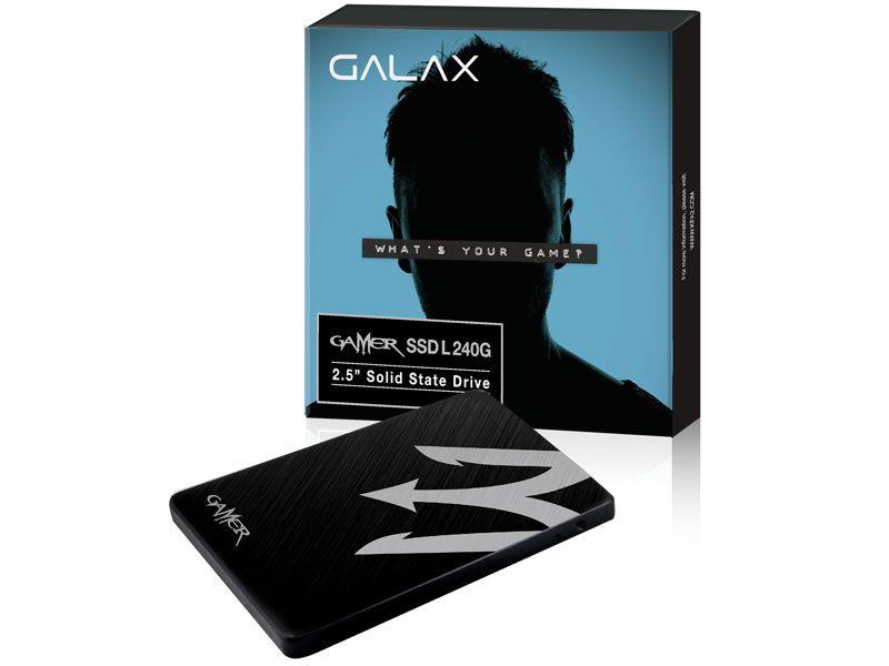 SSD Gamer Galax 240GB LS11 Leitura: 520Mb/s Gravação: 500Mb/s