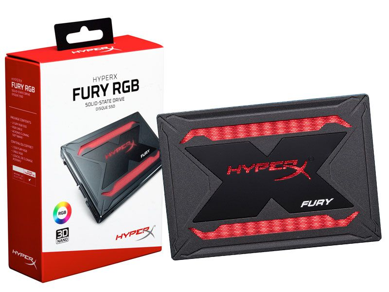 SSD Gamer HYPERX FURY 240GB 2.5 RGB SATA III SHFR200/240G