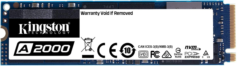 SSD Kingston 250gb A2000 M.2 2280 Nvme Pcie 3.0 - Sa2000m8/250g