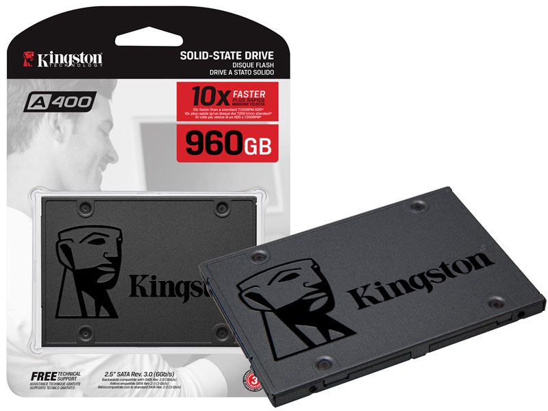 SSD Kingston 960GB A400 SATA3 2,5 7MM - SA400S37/960G