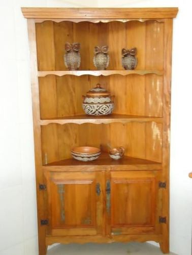 Armário de Canto Rústico Eli em Madeira de Demolição - Cód 2225