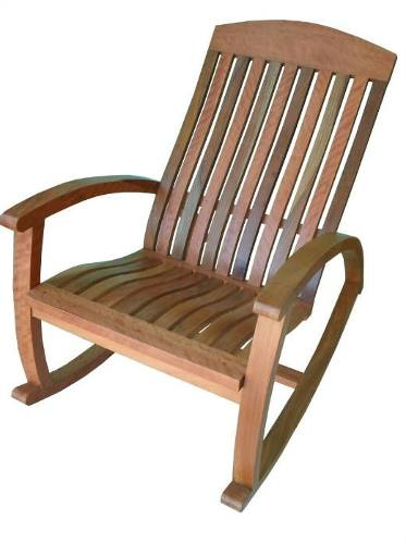 Cadeira de Balanço Rústica Yanná em Madeira de Demolição - Cód 2357