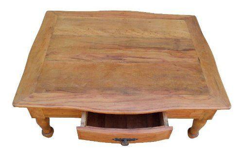 Mesa de Centro Rústica Treasure em Madeira de Demolição - Cód 1381