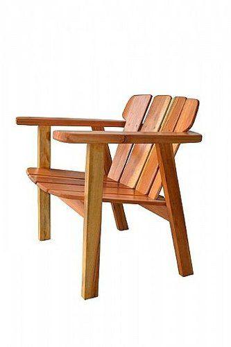 Cadeira Rústica Piscina em Madeira de Demolição - Cód 908