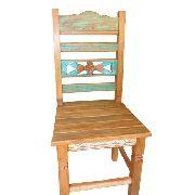 Cadeira Rústica Fiori Em Madeira De Demolição - Cód 1378