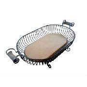 Fruteira Oval I Em Madeira E Ferro - Cód 1833