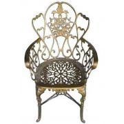 Cadeira Floral Em Alumínio Fundido - Cód 1710