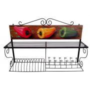 Paneleiro 100 Em Madeira E Ferro (Diversas Opções de Pinturas) - Cód 2439