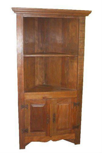 Armário de Canto Rústico Netuno em Madeira de Demolição - Cód 2080