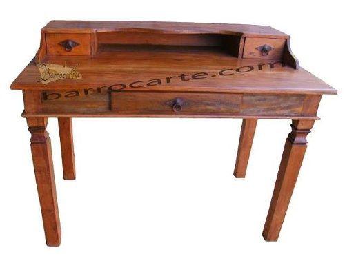 Escrivaninha Rústica Retrô em Madeira de Demolição - Cód 889