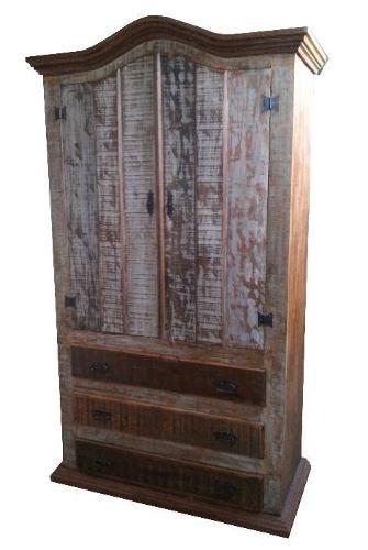 Guarda-Roupas Cinnamon Em Madeira De Demolição - Cód 359