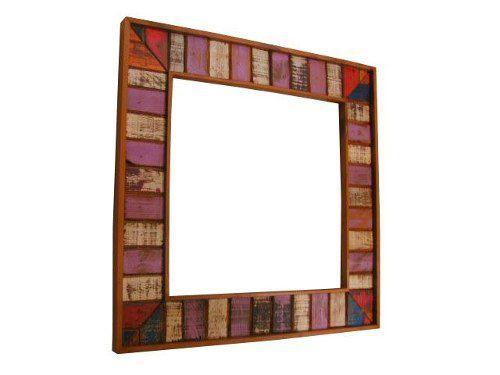 Moldura Wing Em Madeira De Demolição Para Espelho - Cód 1446