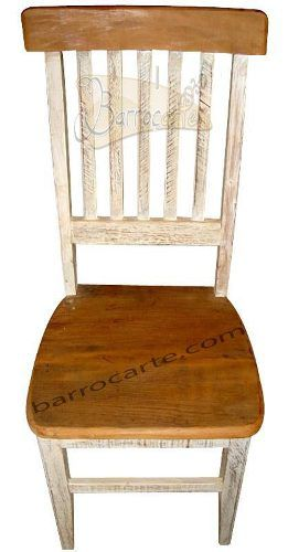 Cadeira Rústica Paris Em Madeira De Demolição - Cód 257