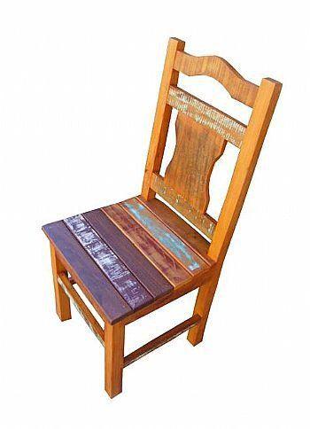 Cadeira Rústica Caroliny Em Madeira Demolição - Cód 1088
