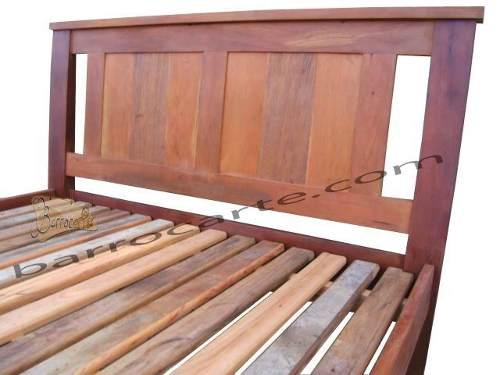 Cama De Casal Living Em Madeira Demolição - Cód 1061