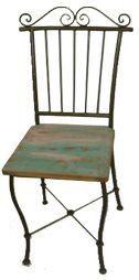 Cadeira Avery em Madeira e Ferro - Cód 410