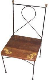 Cadeira Morfeu Em Madeira E Ferro - Cód 537