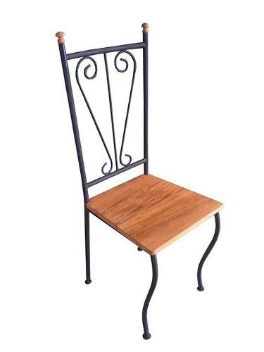 Cadeira Phoebe em Madeira e Ferro - Cód 411