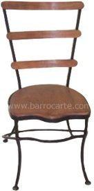 Cadeira Ulisses Em Madeira E Ferro - Cód 539