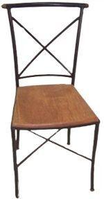 Cadeira Wally Em Madeira E Ferro - Cód 540