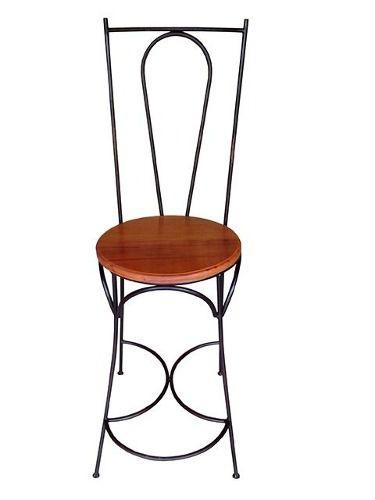Cadeira Exótica Em Madeira E Ferro - Cód 1426