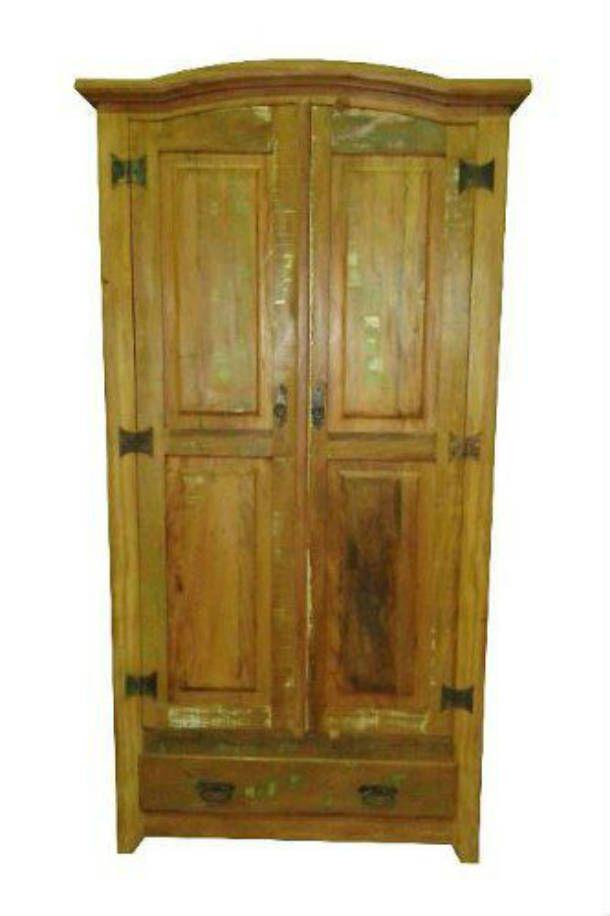 Armário Rústico Retrô em Madeira de Demolição - Cód 125