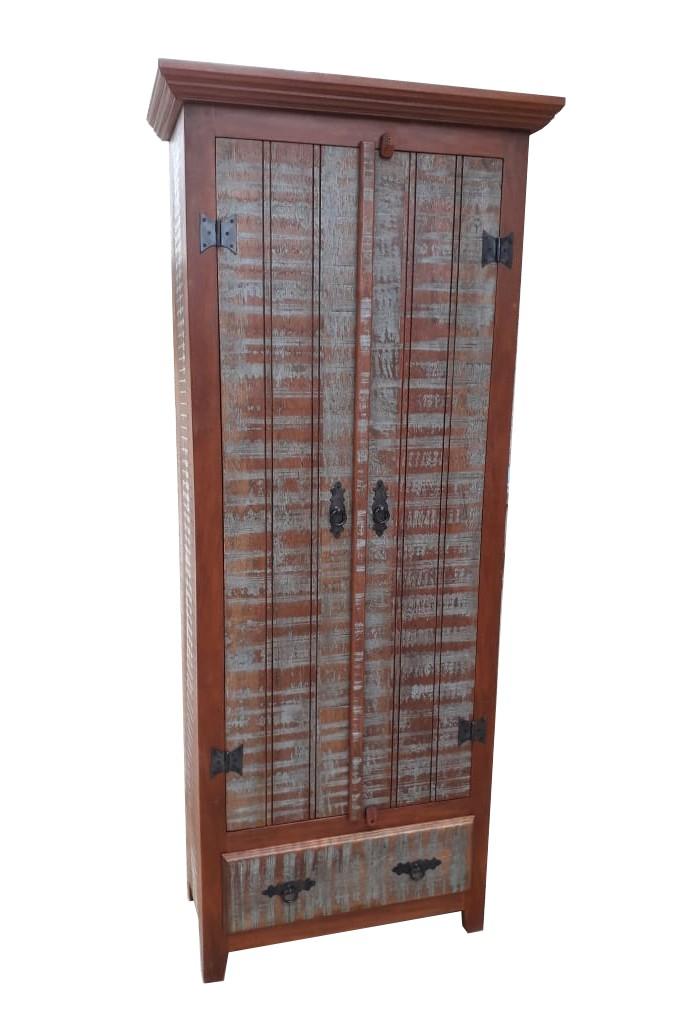 Armário Rústico Siri Em Madeira De Demolição - Cód 134