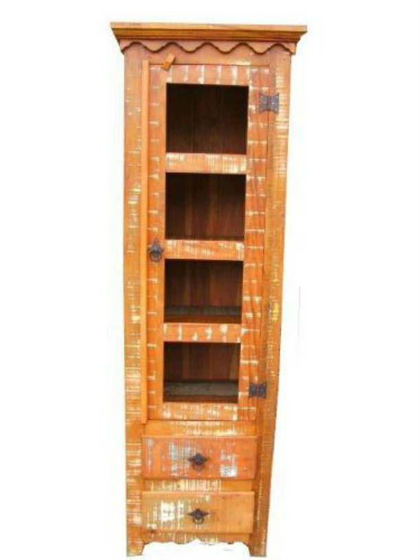 Armário Rústico Slim Em Madeira De Demolição - Cód 1240