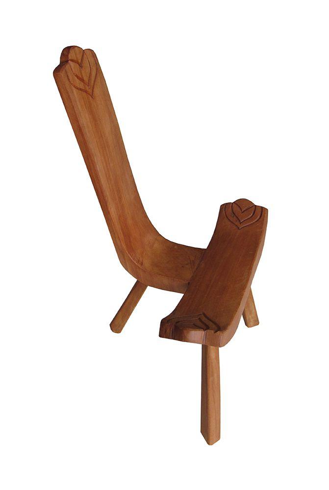 Cadeira Rústica Bacalhau em Madeira de Demolição - Cód 50