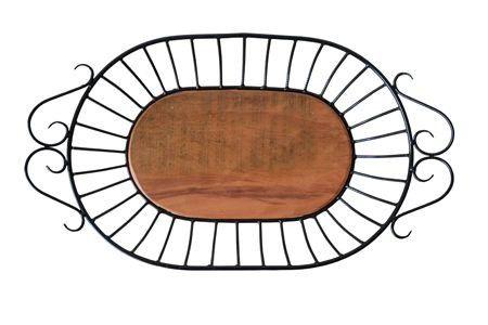 Fruteira Oval II em Madeira e Ferro - Cód 917