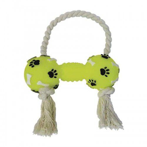 Brinquedo pra Cães Halter Pata Osso Com Corda