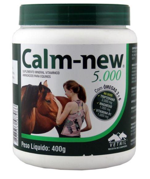 Calm-New Triptofano - Auxilia no trato de animais agressivos, estressados e com vícios prejudiciais.