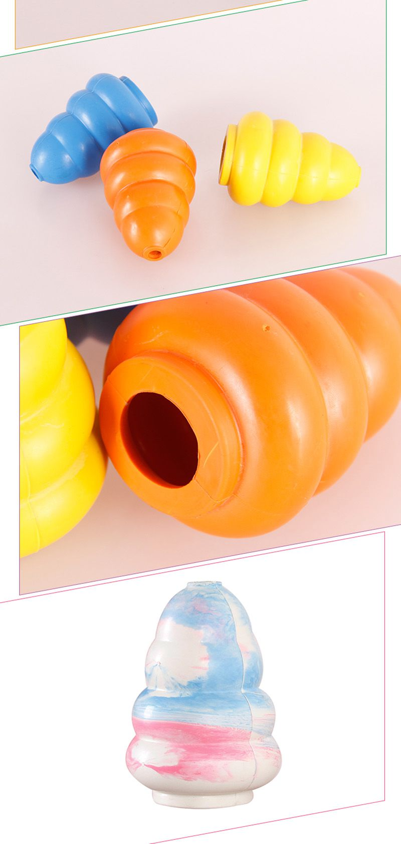 Cone Interativo. Coloque petiscos dentro dele - Auxilia na limpeza dos Dentes