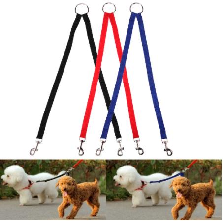 Engate duplo para passeios de dois cães