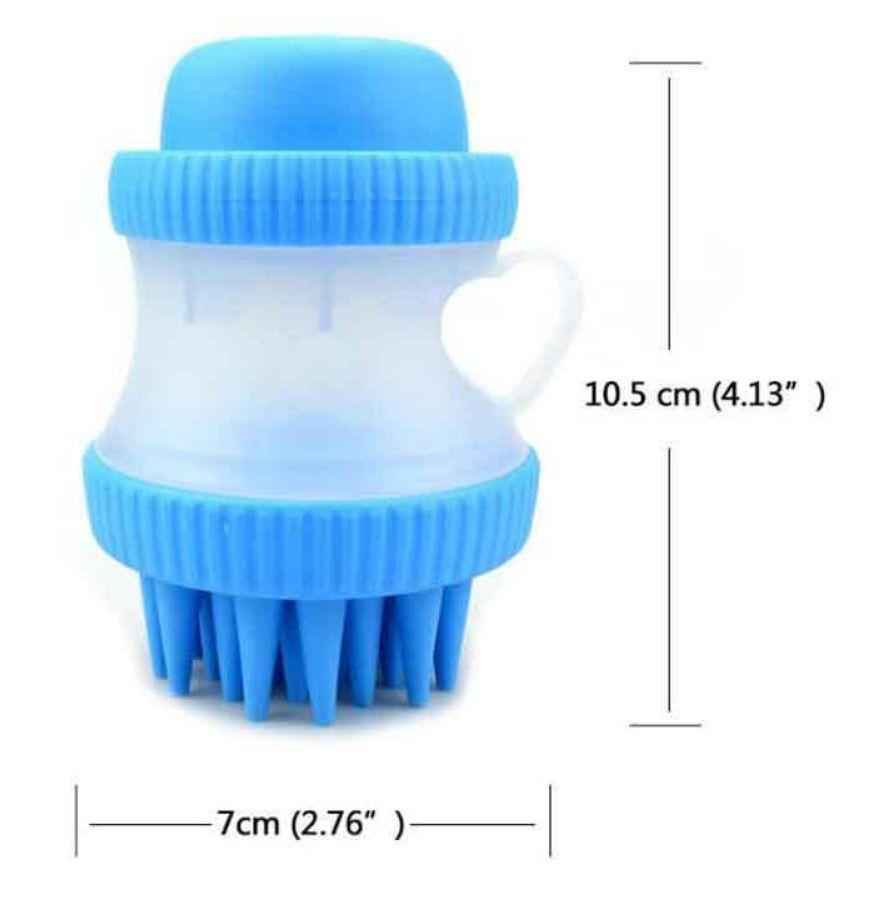 Escova de Silicone com Porta Shampoo