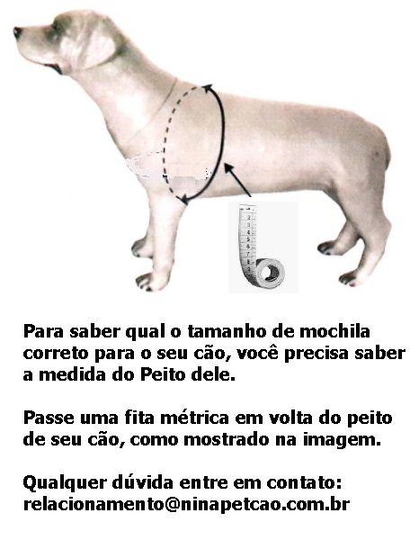 Mochila para Cães Ex - Auxilia nos exercícios diários.