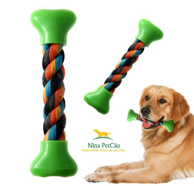 Osso Corda - Mantem seu cão entretido e ajuda a limpar os dentes dele.