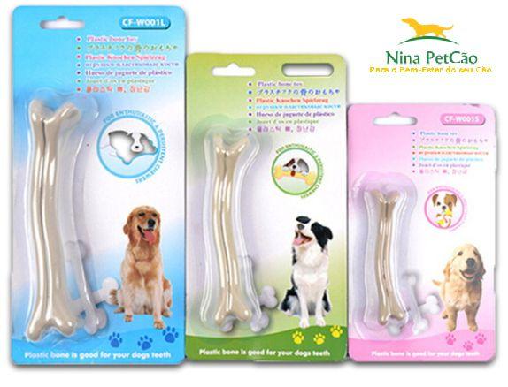 Osso de Nylon Duro Branco - Para cães que adoram roer e mastigar!
