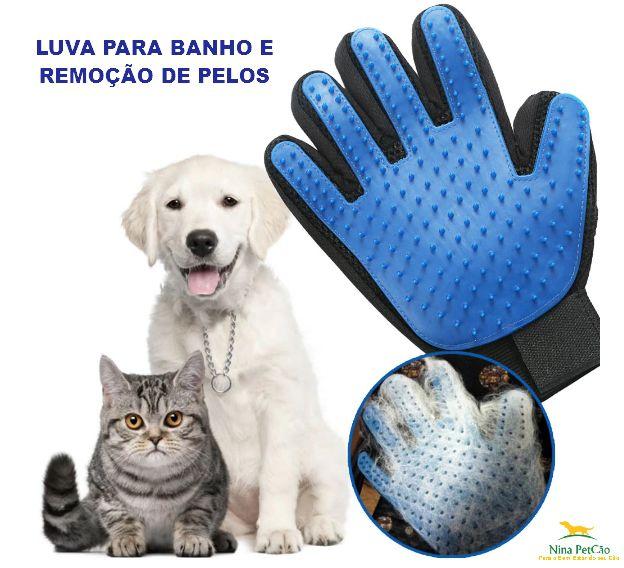 Par de Luvas para Banho em Cães e Gatos