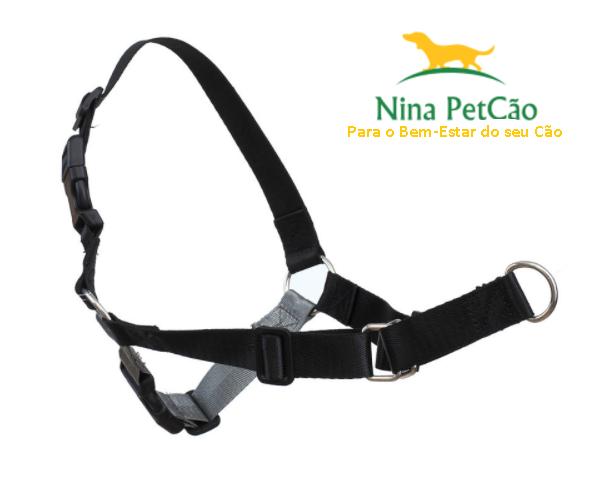 Peitoral de Treinamento - Anti Puxão (cor Preto com Cinza)