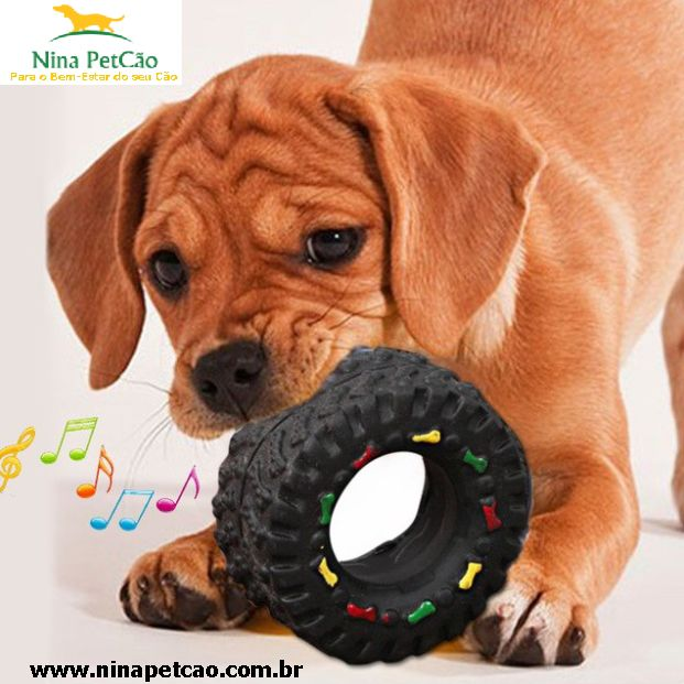 Pneu Macio de brinquedo para cães!